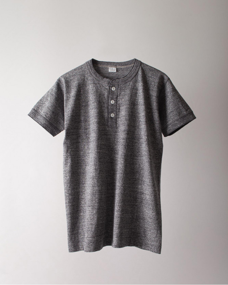 ENTRY SG|Sonora Henley Neck Tee・Graphite