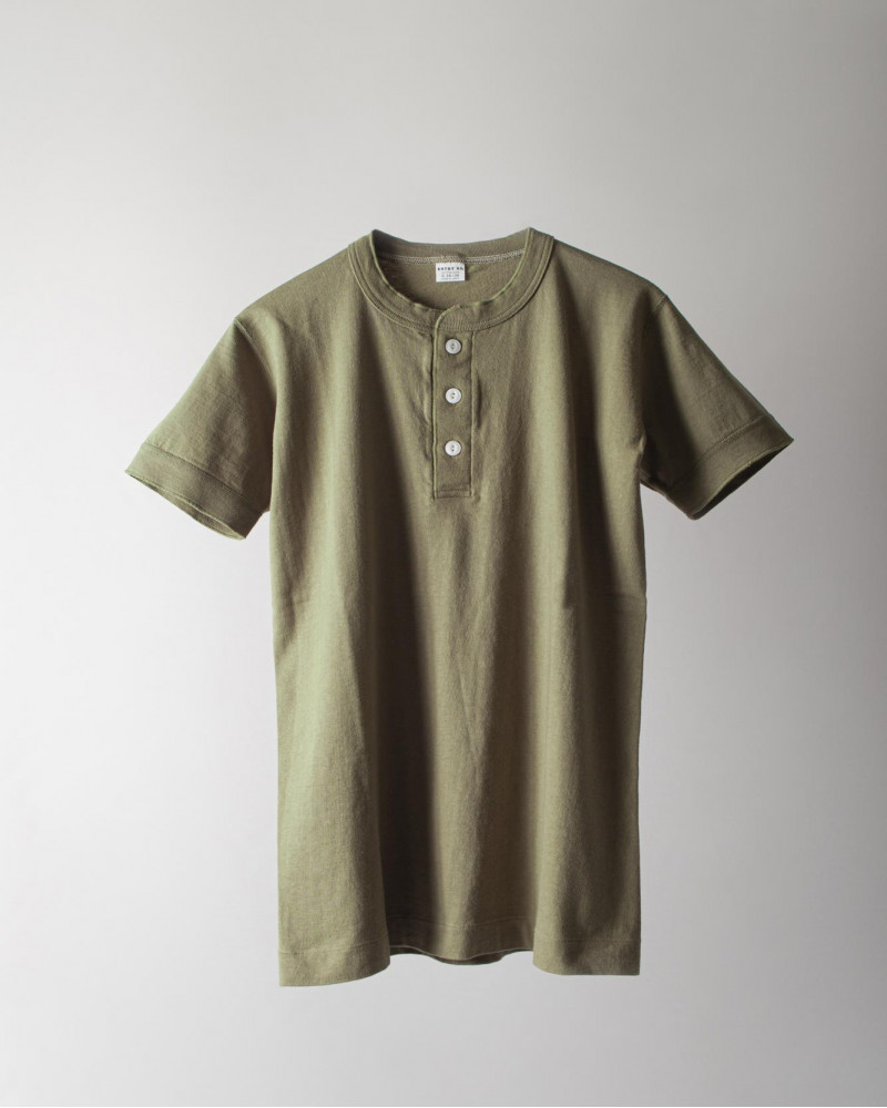 ENTRY SG|Sonora Henley Neck Tee・Bronze Green