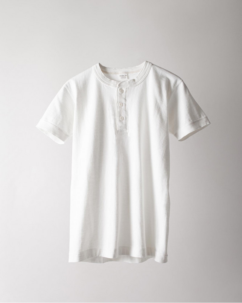 ENTRY SG|Sonora Henley Neck Tee・Pure White