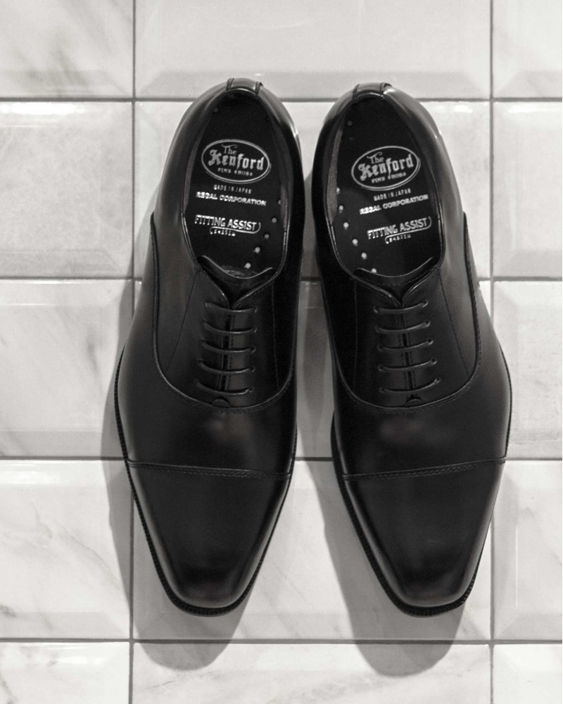 Kenford KN21 Captoe Oxford · Black