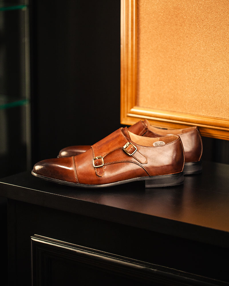 RAD by RAUDi|015 Double Monk Strap Shoes・Chestnut