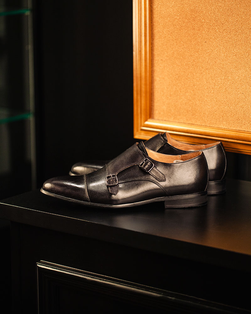 RAD by RAUDi|015 Double Monk Strap Shoes・Black