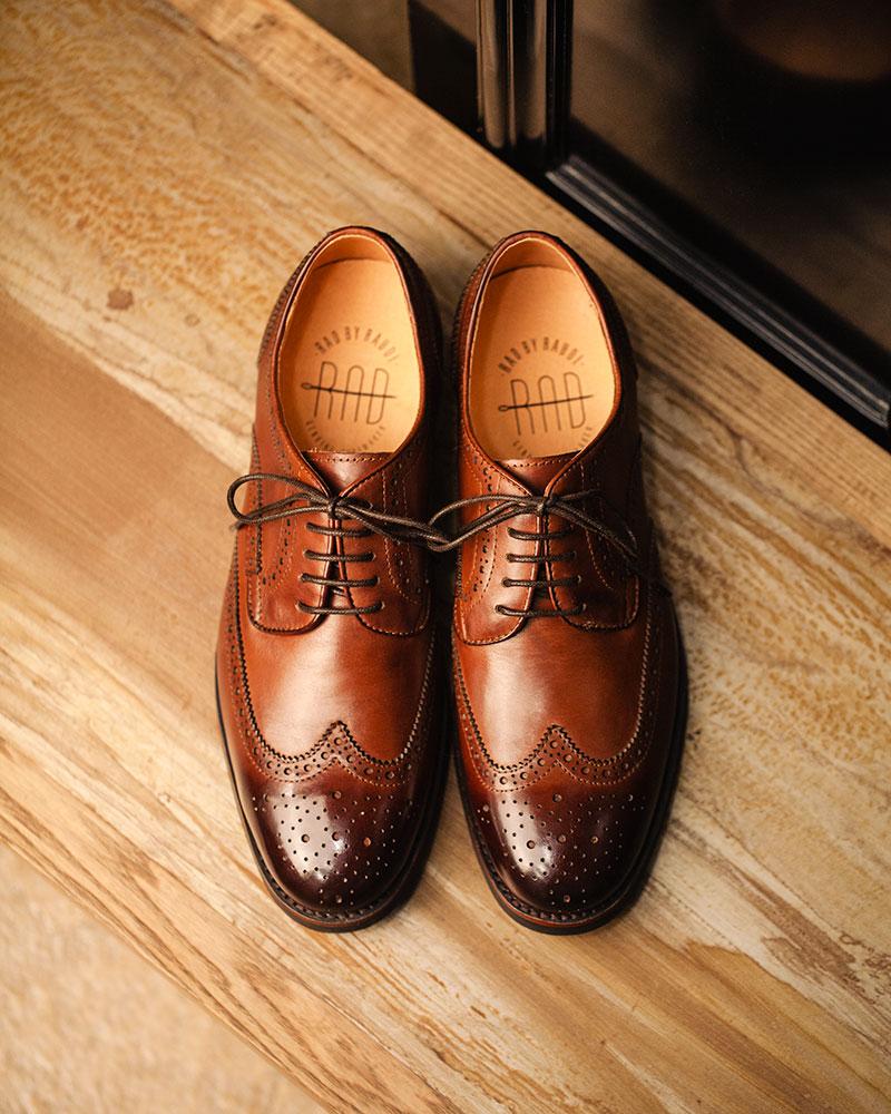 RAD by RAUDi|021 Wingtip Derby Shoes · Brown