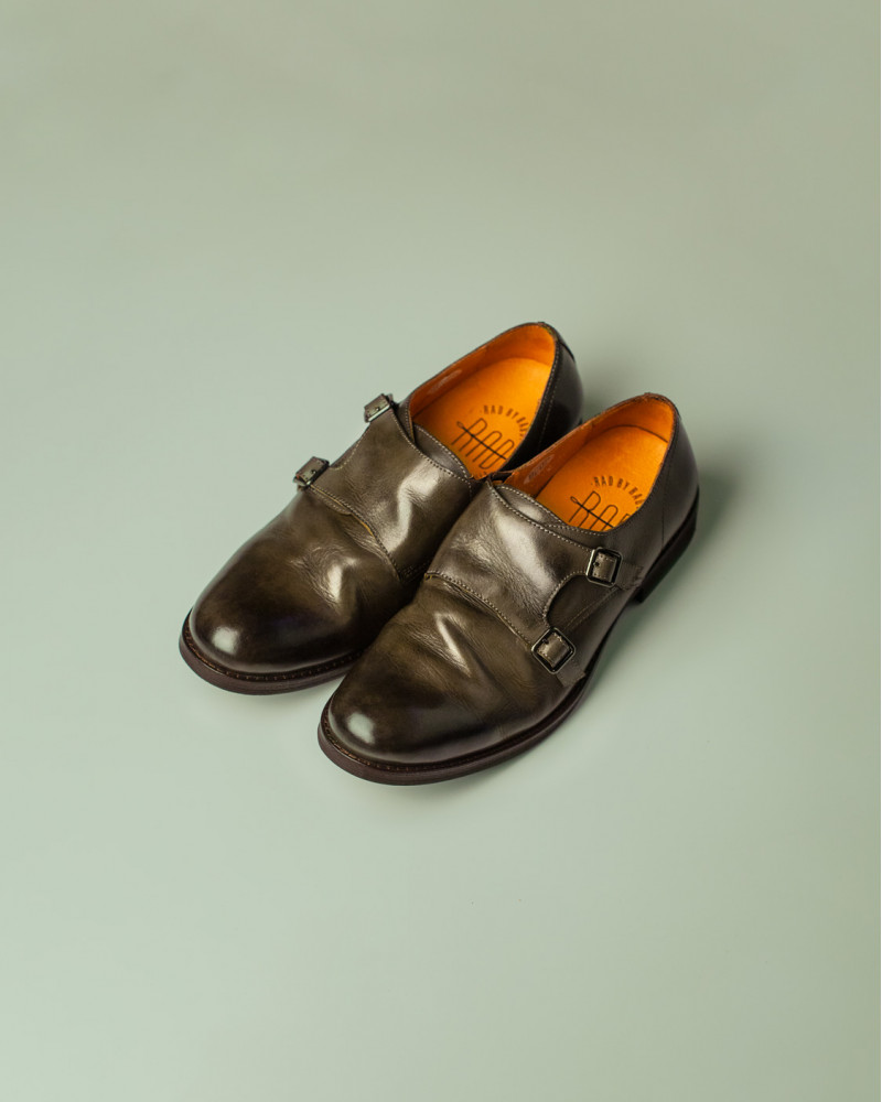 RAD by RAUDi|R12110 Washed Double Monk Strap.Grey
