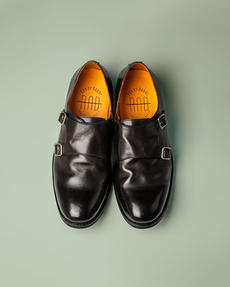 RAD by RAUDi|R12110 Washed Double Monk Strap.Black