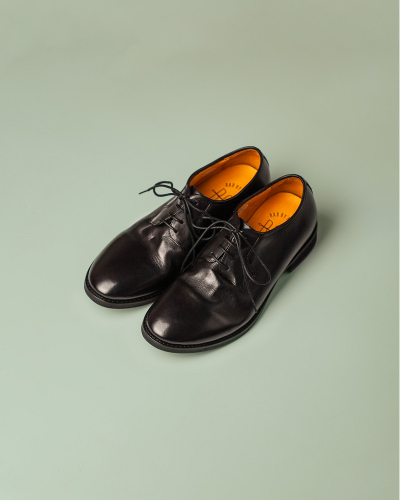 RAD by RAUDi|R12113 Washed Plain Toe Derby.Black