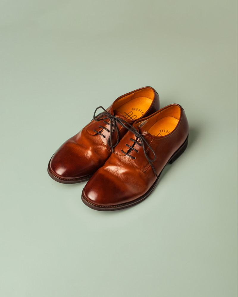 RAD by RAUDi|R12113 Washed Plain Toe Derby.Brown