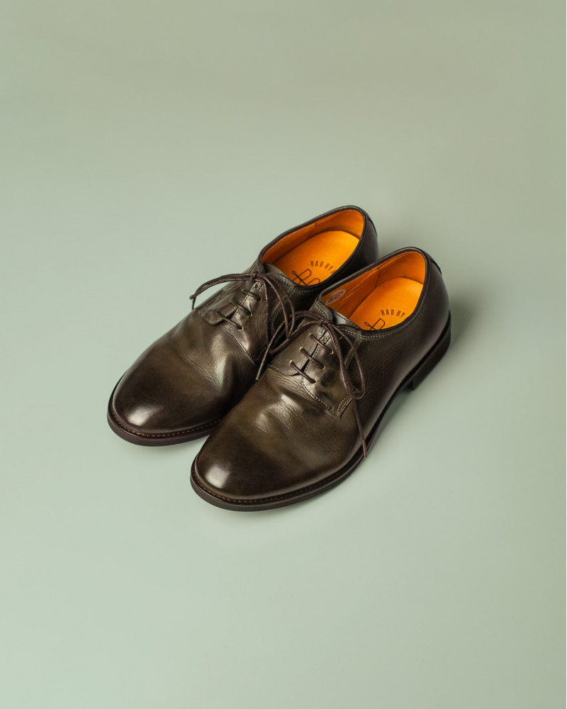 RAD by RAUDi|R12113 Washed Plain Toe Derby.Grey