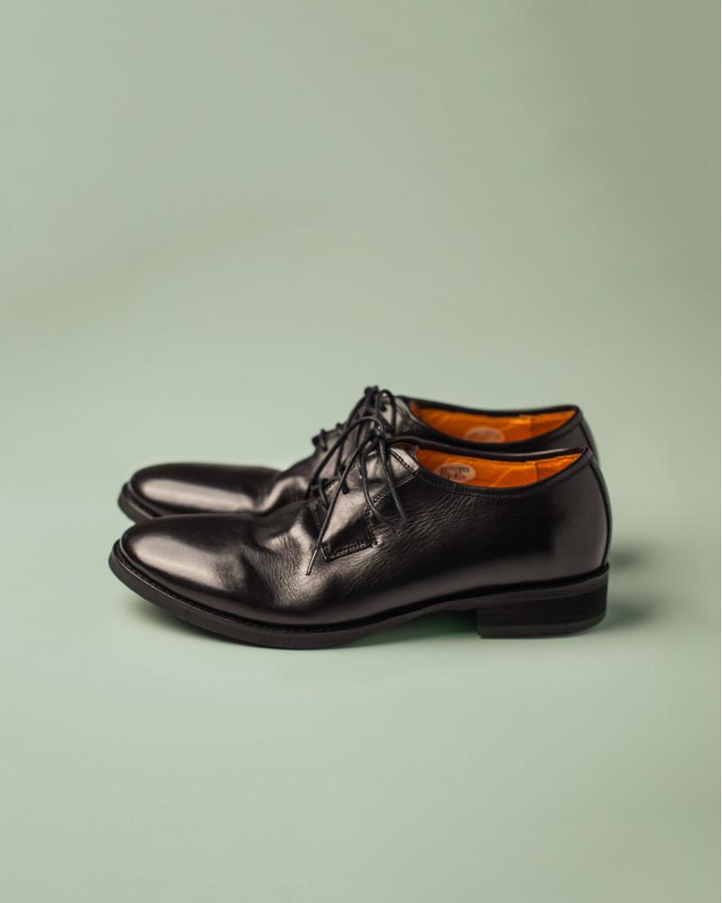 RAD by RAUDi|R12113 Washed Plain Toe Derby.Black