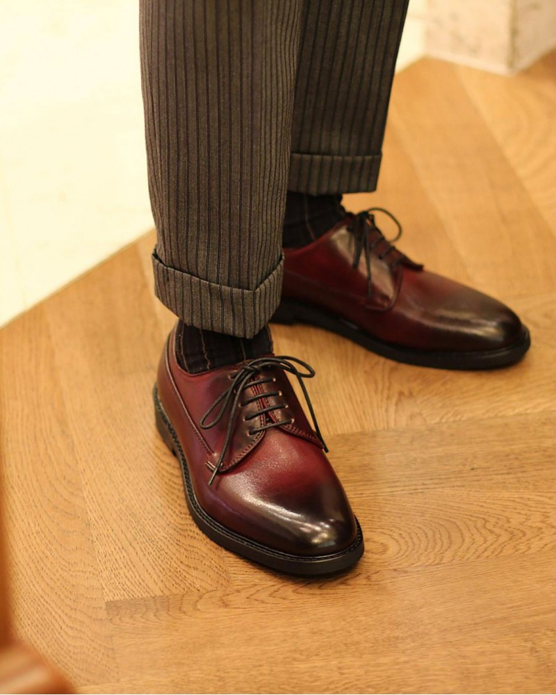 RAD by RAUDi|71103 Plain Toe Derby Shoes・Wine