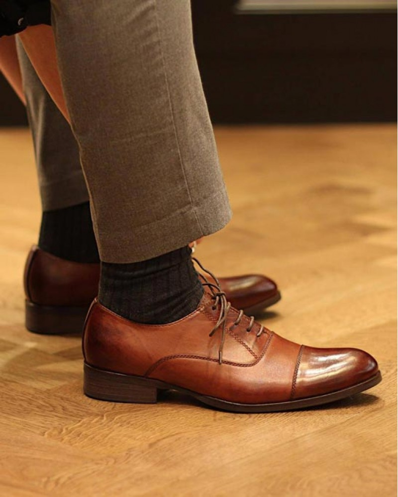 RAD by RAUDi|72122 Cap Toe Oxford・Brown