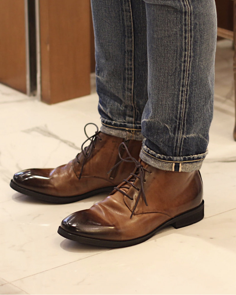 RAD by RAUDi|81207 Washed Ankle Boots.Brown