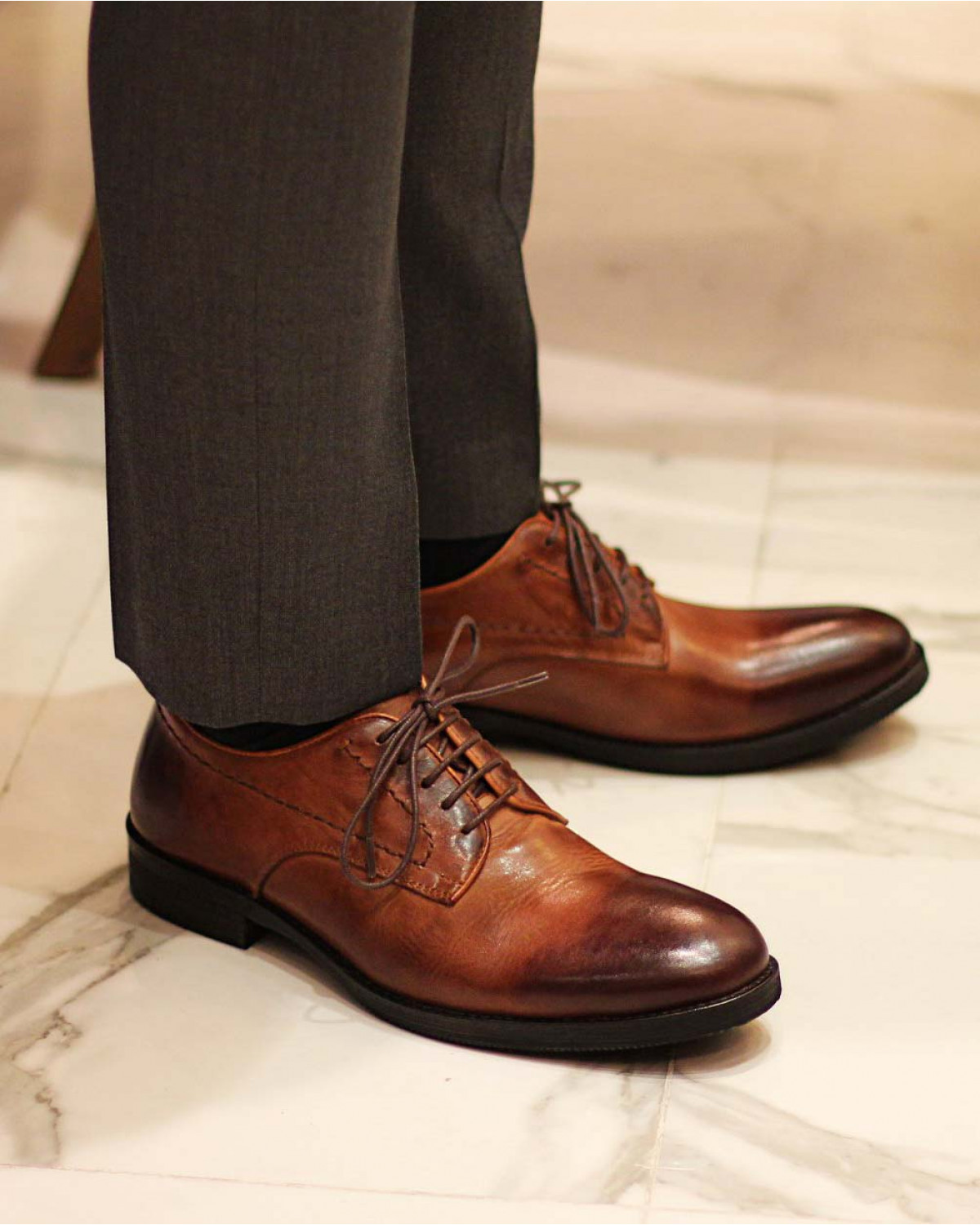 RAD by RAUDi 82105 Washed Derby Shoes・Brown