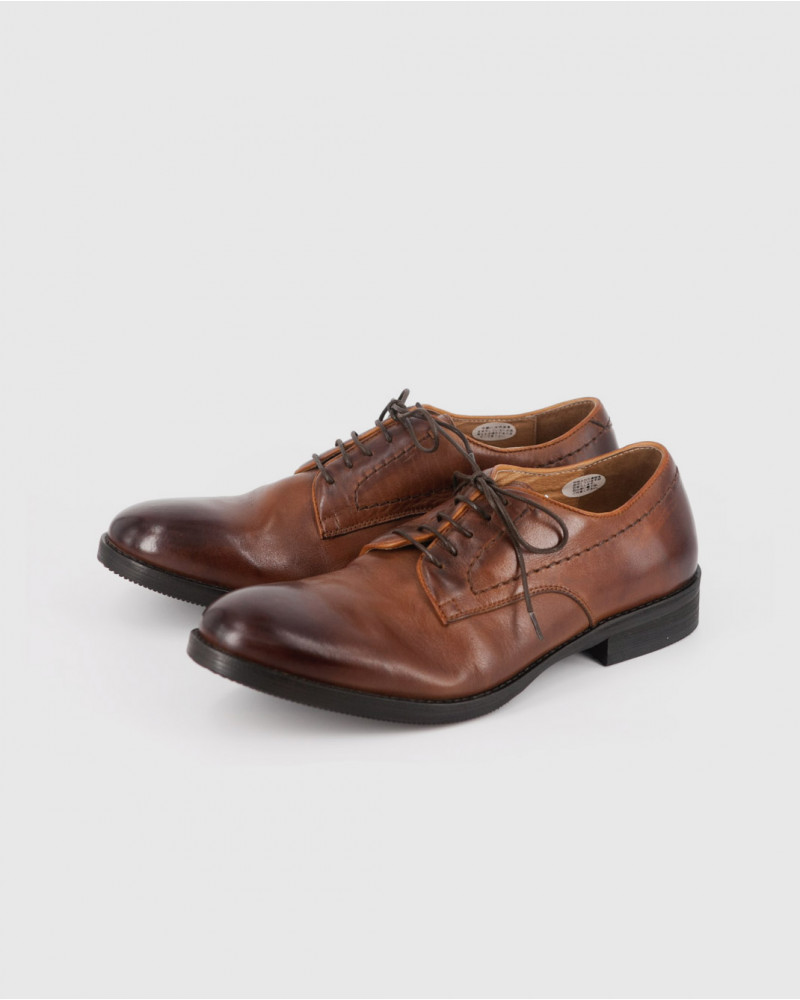 RAD by RAUDi|82105 Washed Derby Shoes・Brown