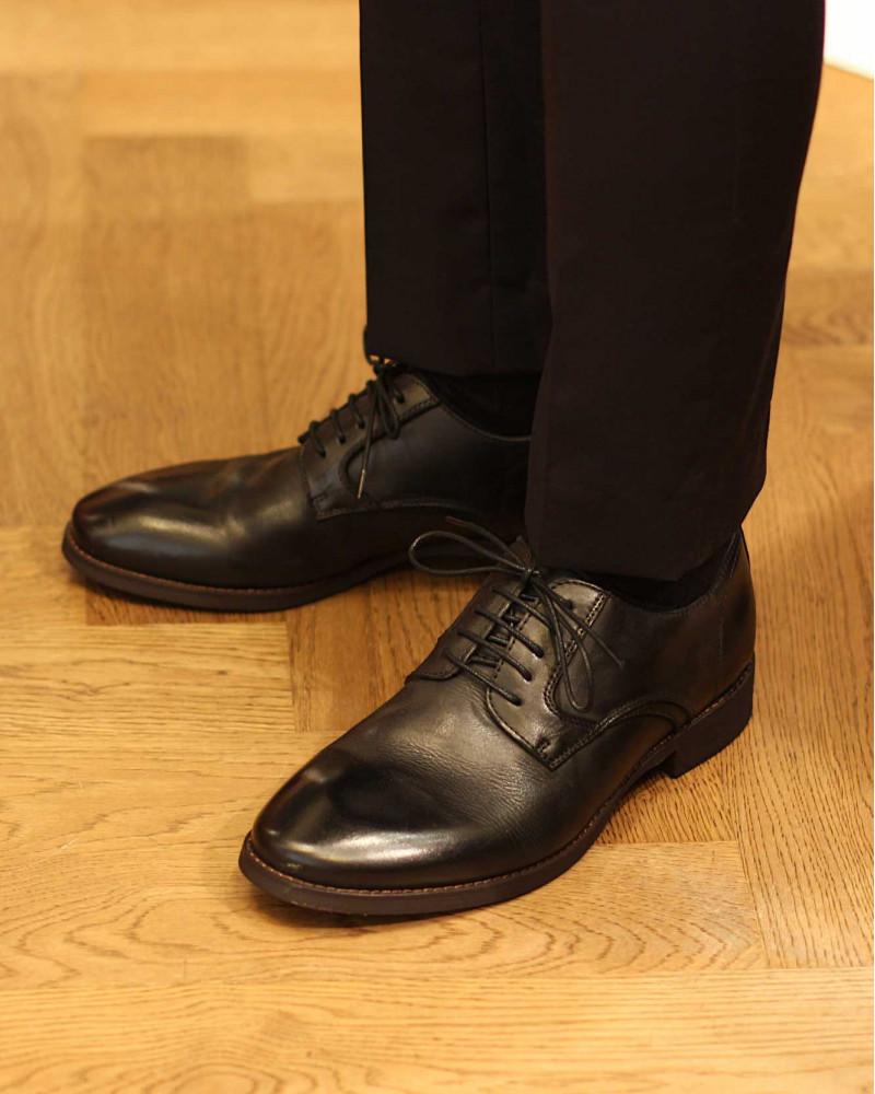 RAD by RAUDi|91101 Washed Plain Toe Derby・Black