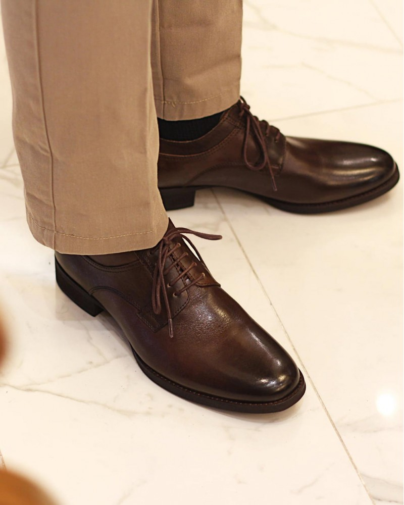 RAD by RAUDi|91105 Plain Toe Derby・Dark Brown