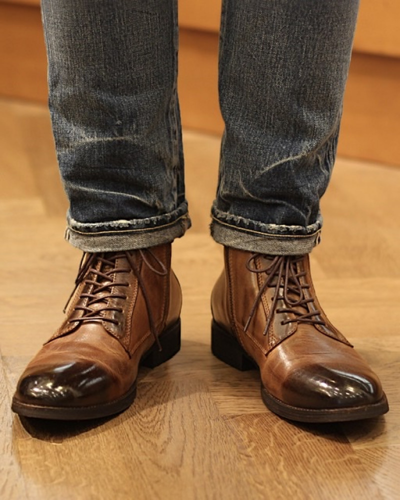 RAD by RAUDi|91214 Washed Leather Boots・Brown