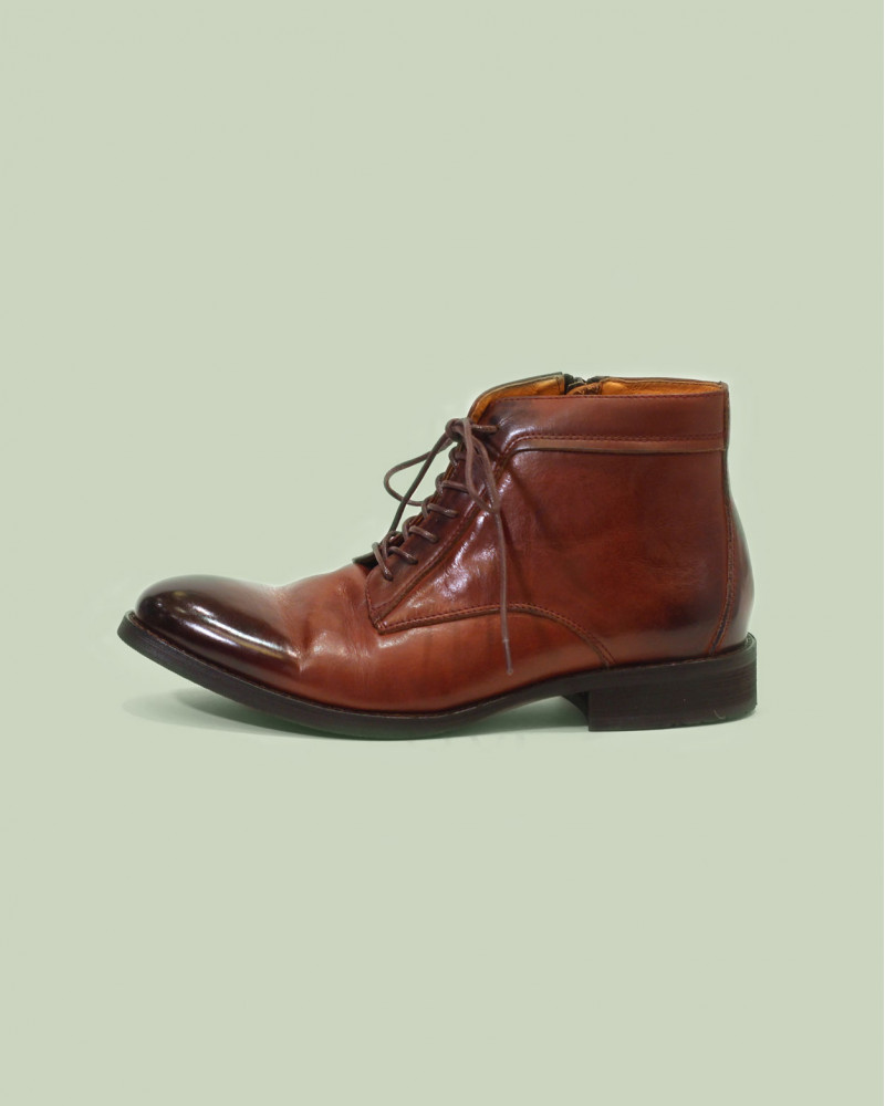 RAD by RAUDi|91214 Washed Leather Boots・Brick