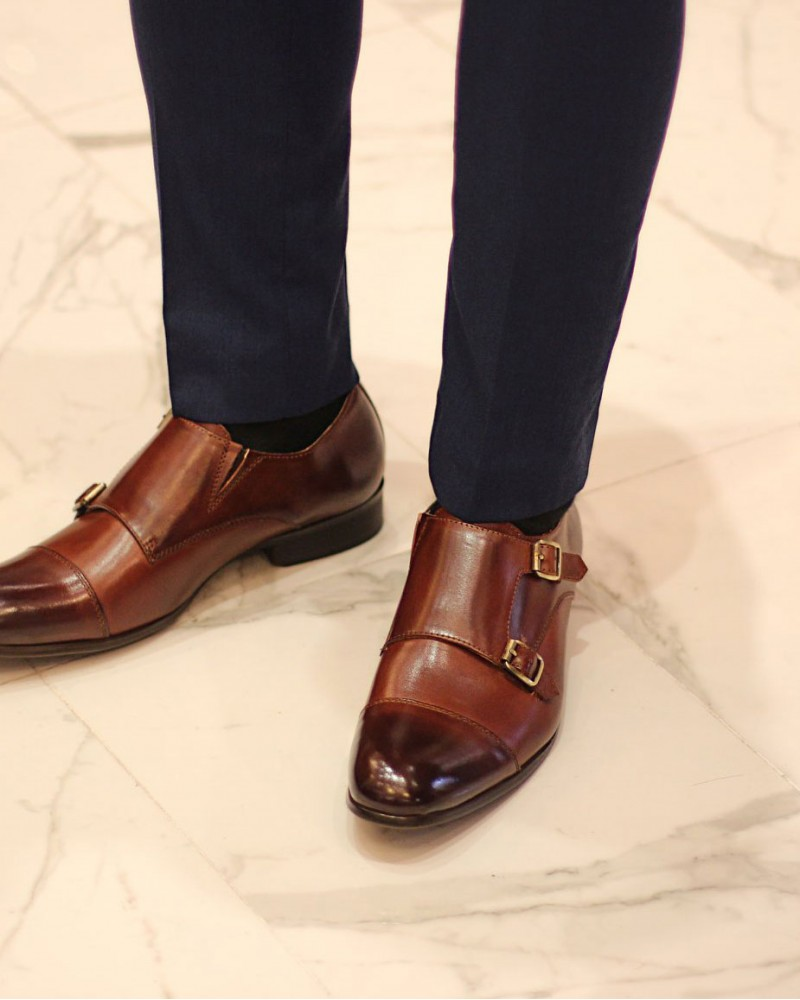 RAD by RAUDi|72123 Double Monk Strap Shoes・Brown