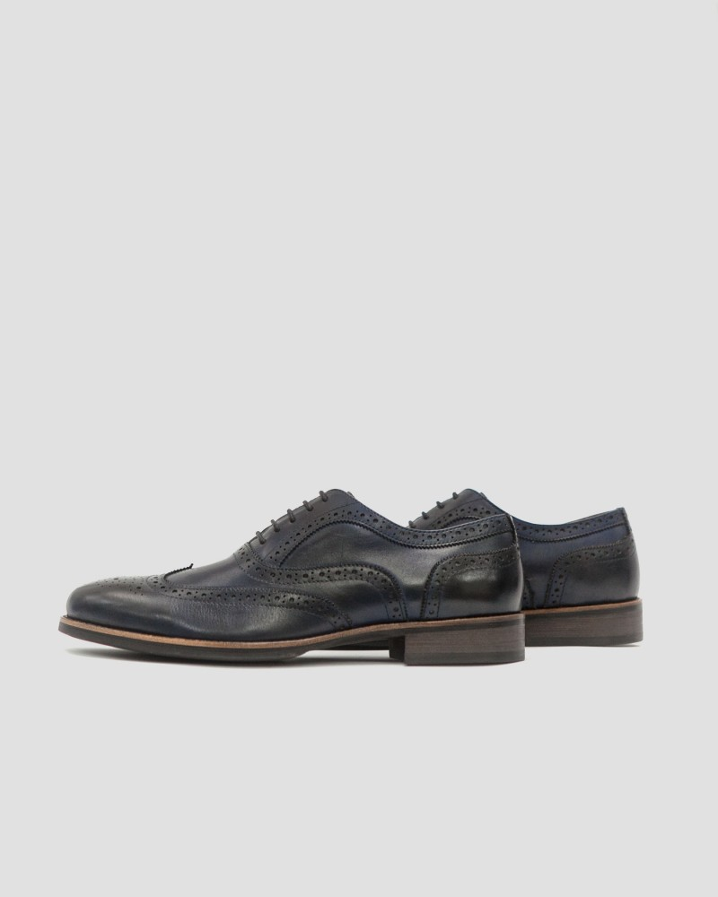 RAD by RAUDi Wingtip Oxford Shoes · Navy