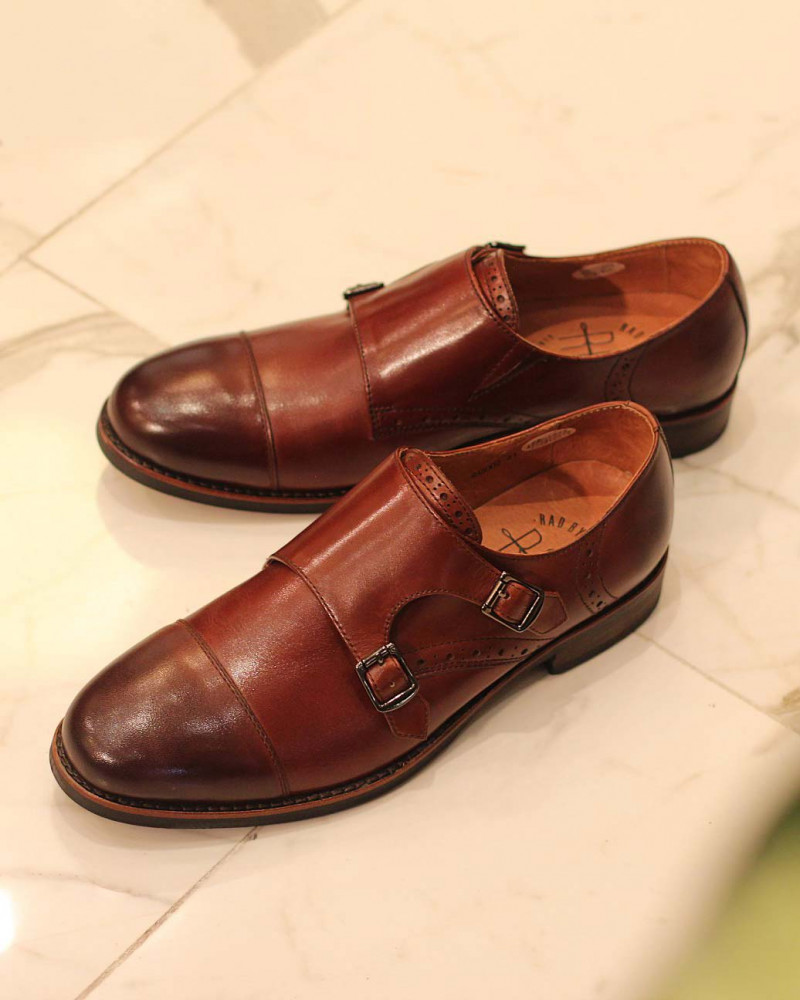 RAD by RAUDi Round Double Monk Straps・Brown