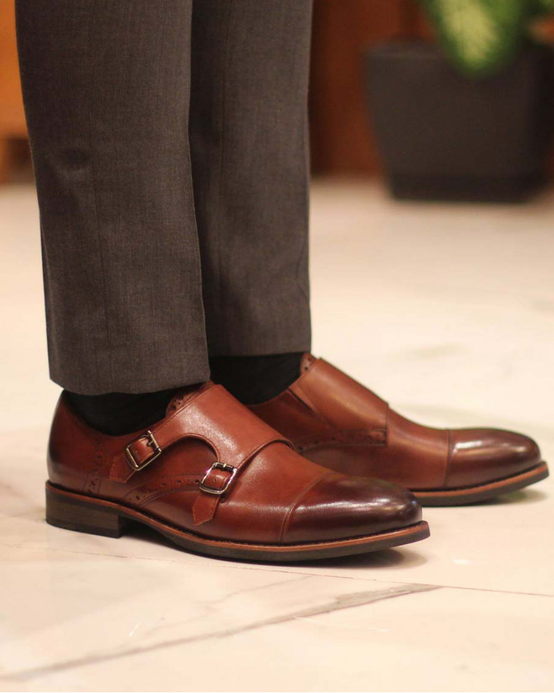 RAD by RAUDi|02 Round Double Monk Straps・Brown