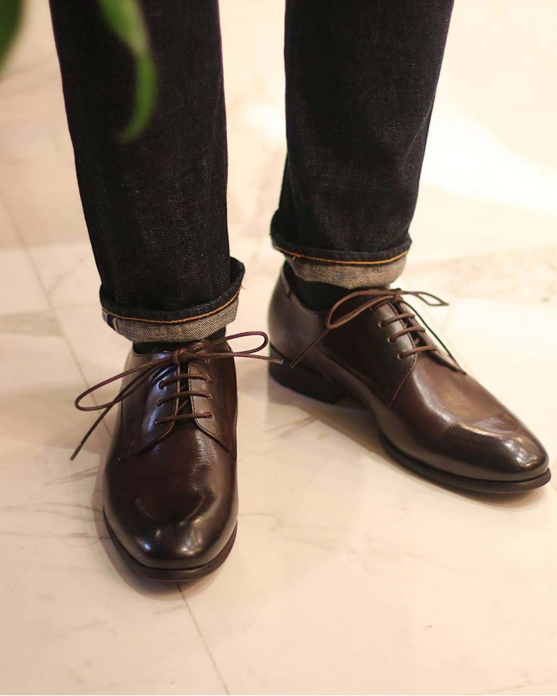 RAD by RAUDi|03 Plain Toe Derby・Dark Brown