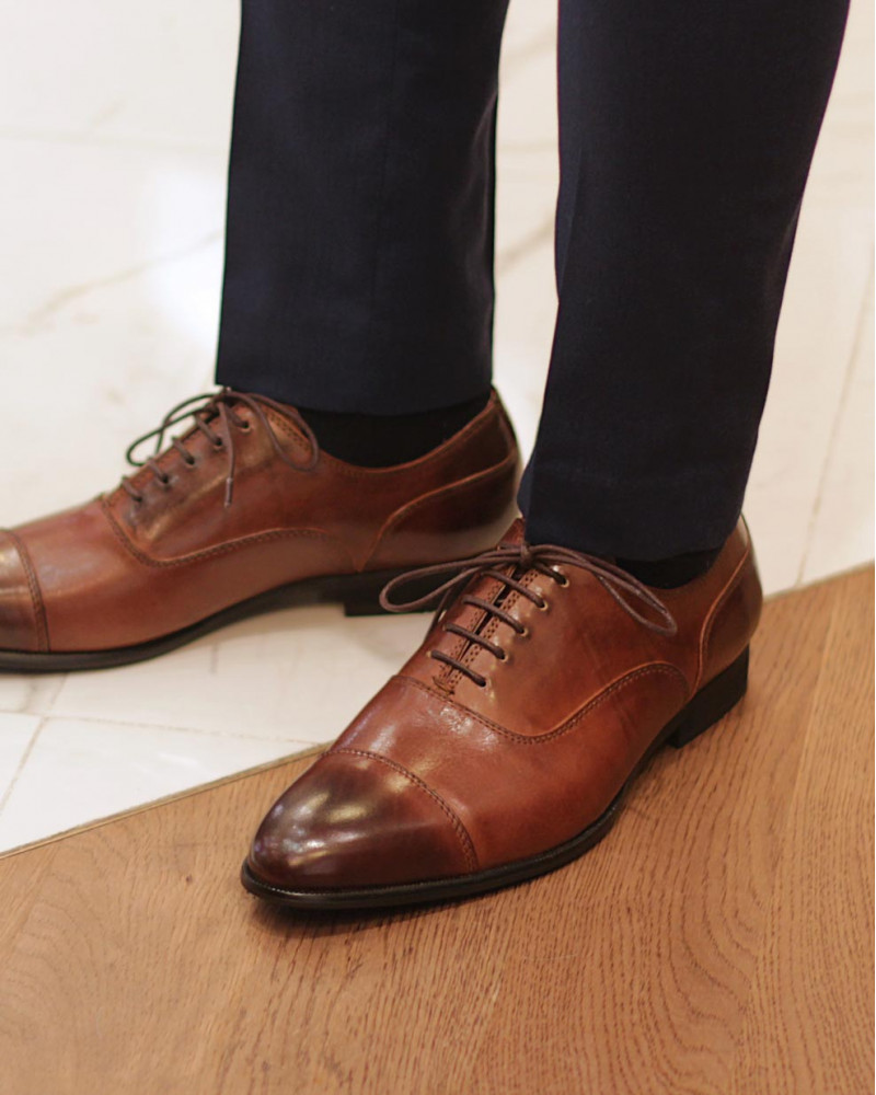 RAD by RAUDi 013 Captoe Oxford・Brown