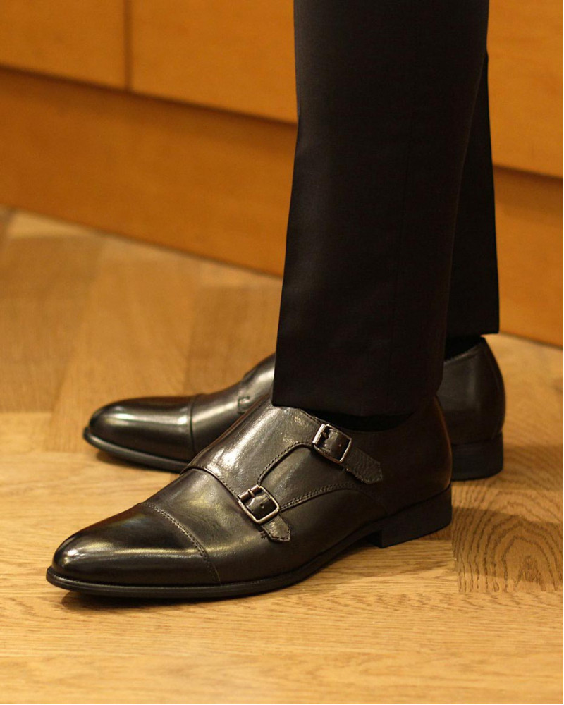 RAD by RAUDi|015 Double Monk Strap Shoes・Black