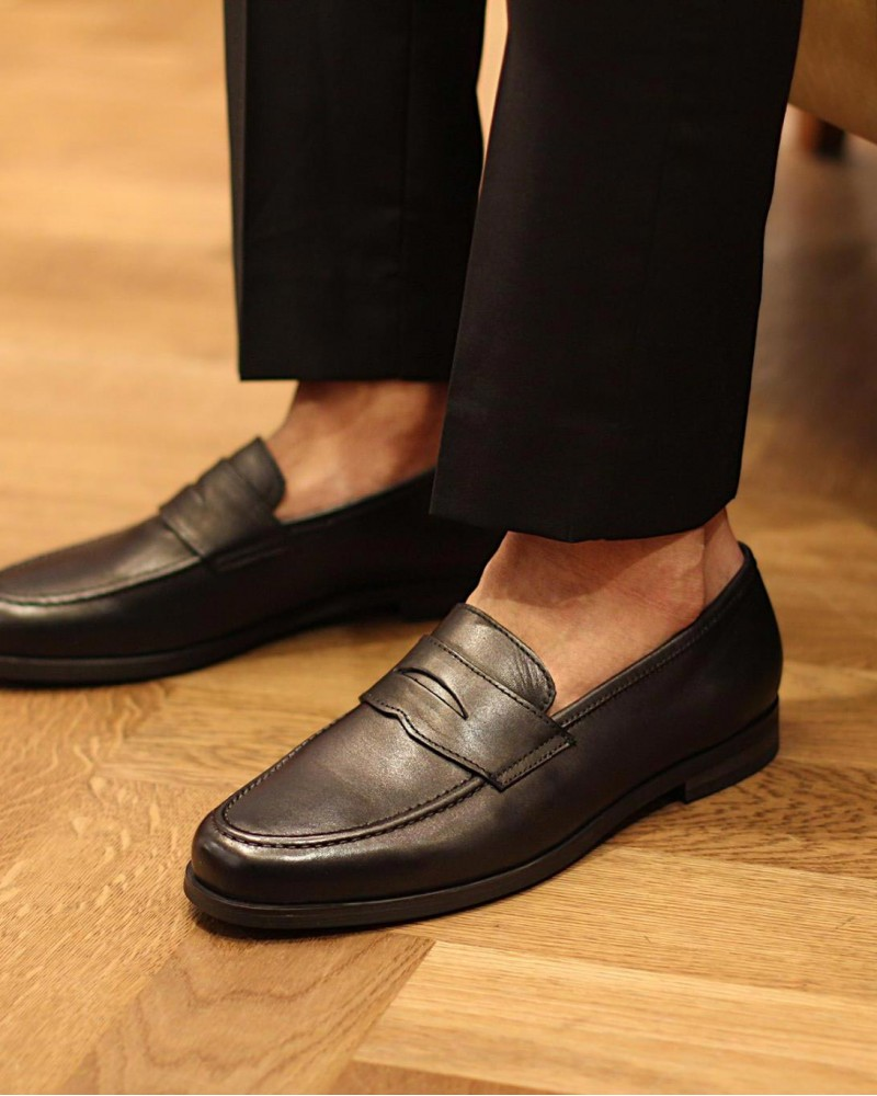 RAD by RAUDi|018 Penny Loafers · Black