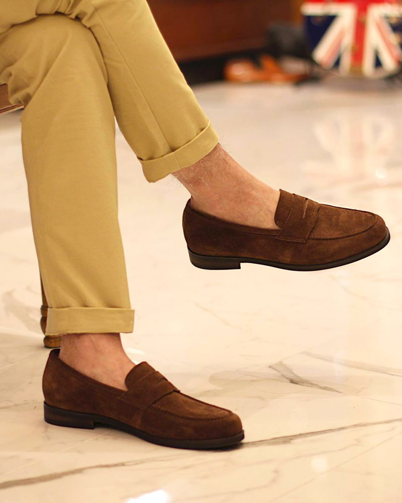 RAD by RAUDi|018 Penny Loafers · Camel Suede