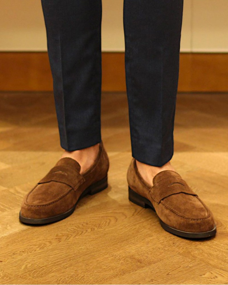 RAD by RAUDi Penny Loafers · Camel Suede