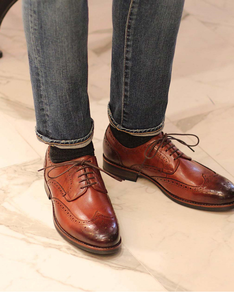 RAD by RAUDi|021 Wingtip Derby Shoes · Brown