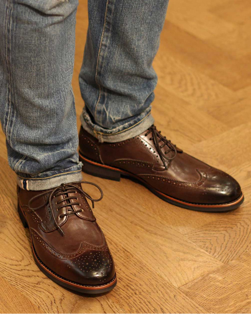 RAD by RAUDi|021 Wingtip Derby Shoes · Dark Brown