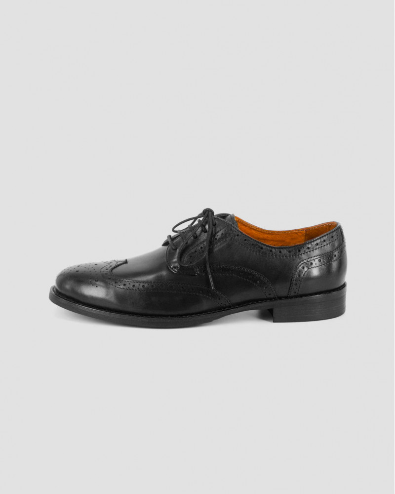RAD by RAUDi Wingtip Derby Shoes · Black