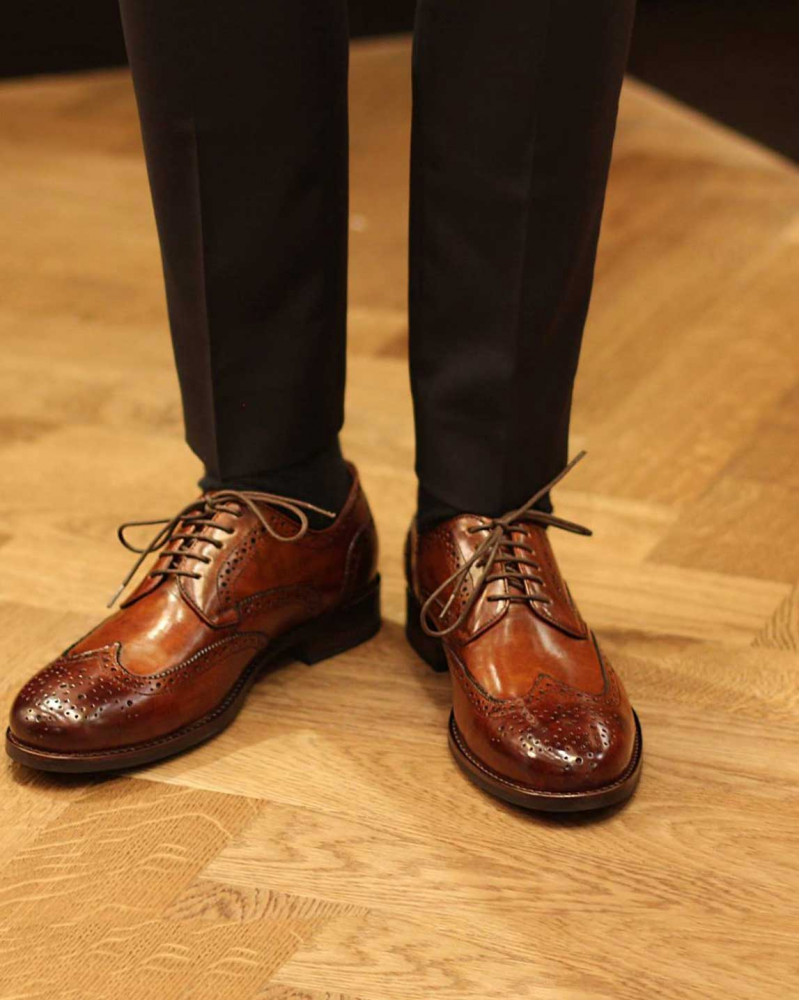 RAD by RAUDi Wingtip Derby Shoes · Brown