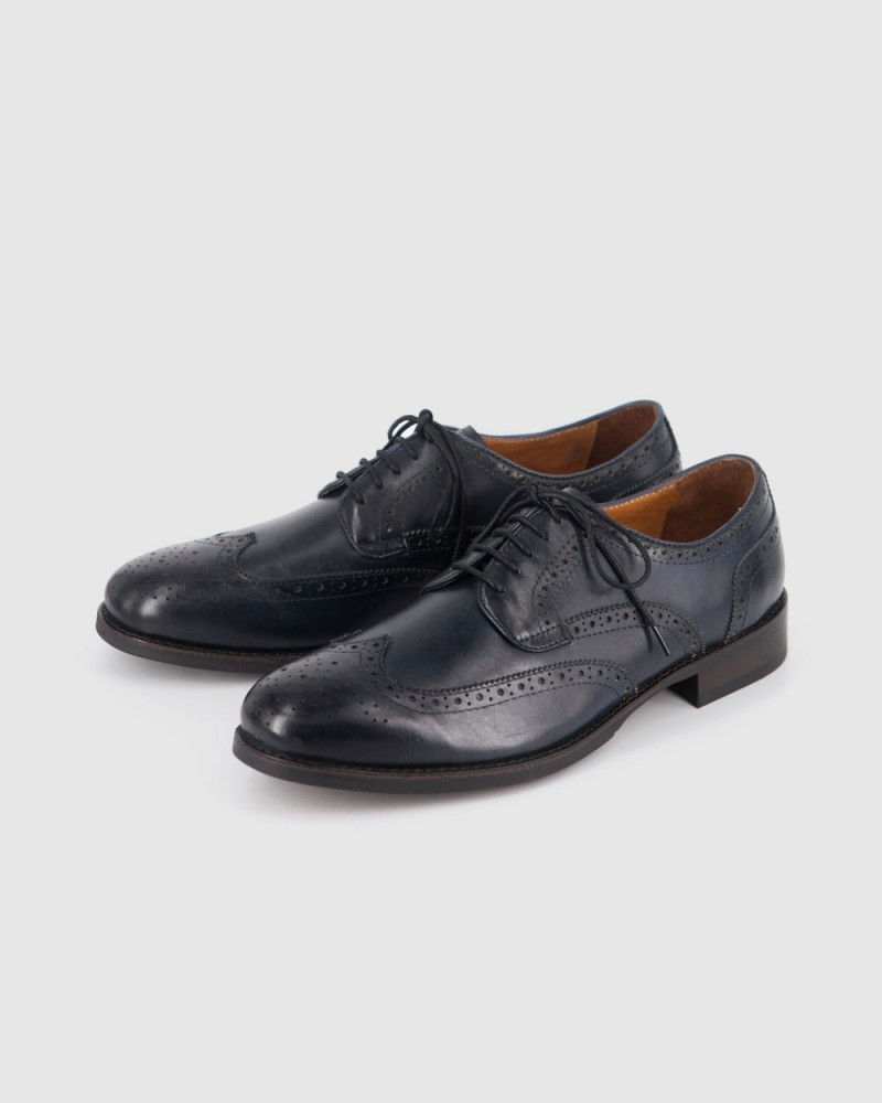 RAD by RAUDi Wingtip Derby Shoes · Navy