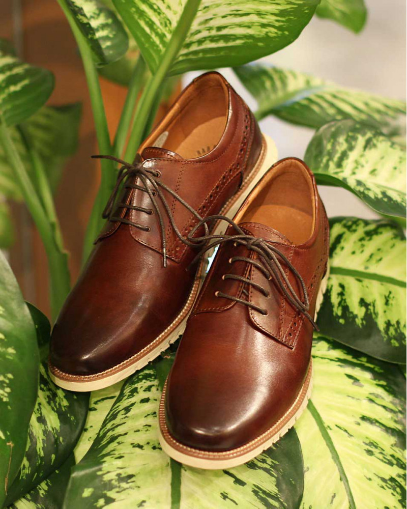 RAD by RAUDi|Plain Toe Derby Sneakers・Brown