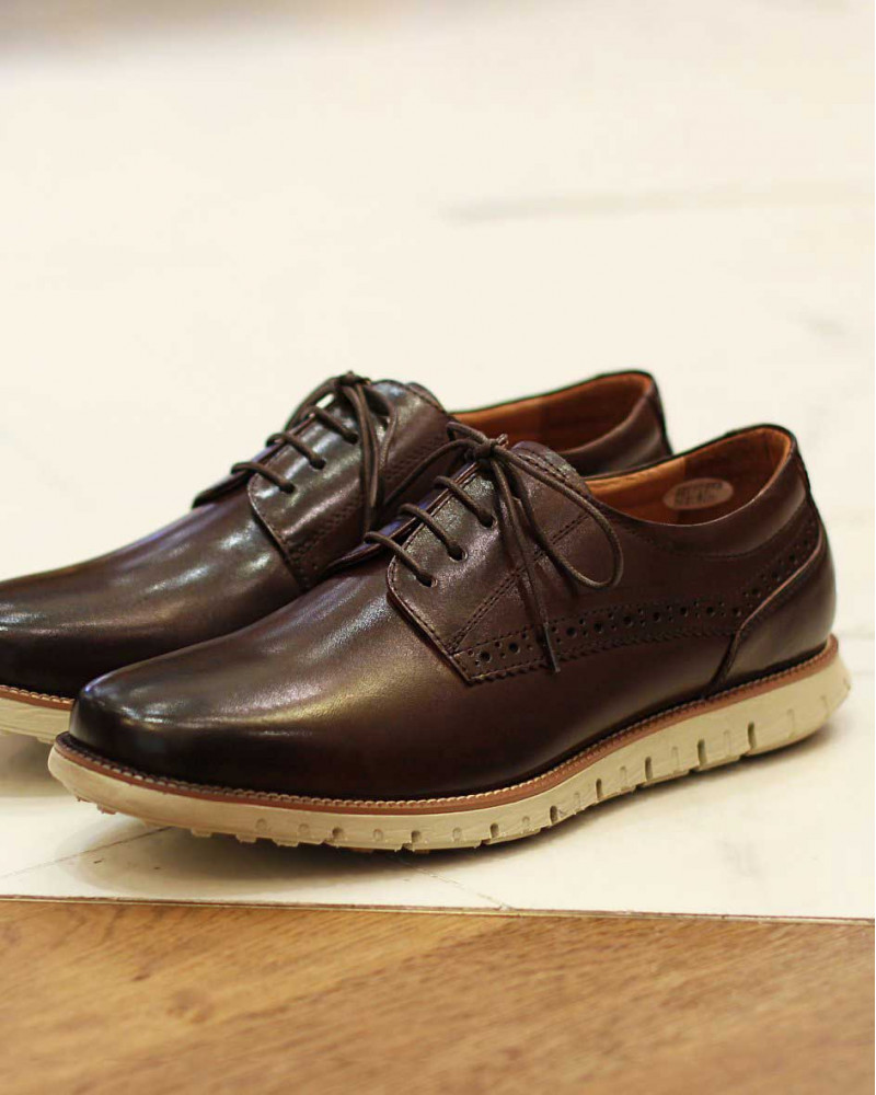 RAD by RAUDi|Plain Toe Derby Sneakers・Dark Brown