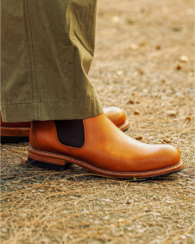 Slow Wear Lion|OB18208 Chelsea Boots・Brown