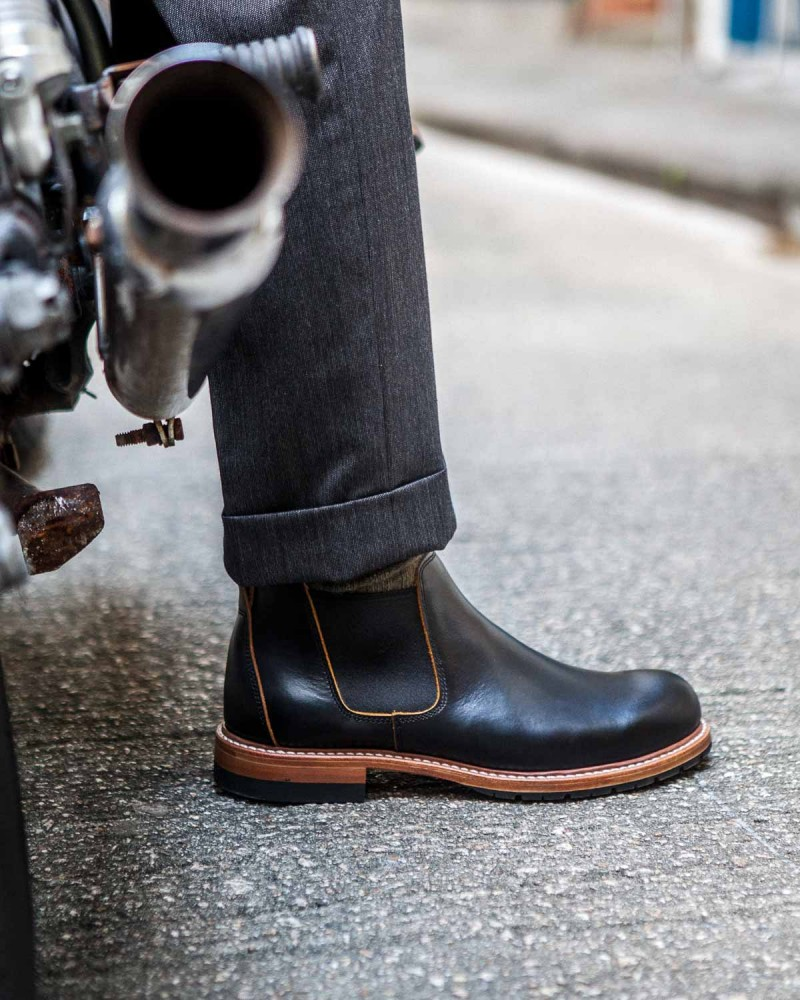 Slow Wear Lion|OB18208 Chelsea Boots・Black