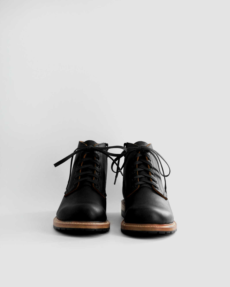 Slow Wear Lion|OB18592 Zip-up Boots・Black