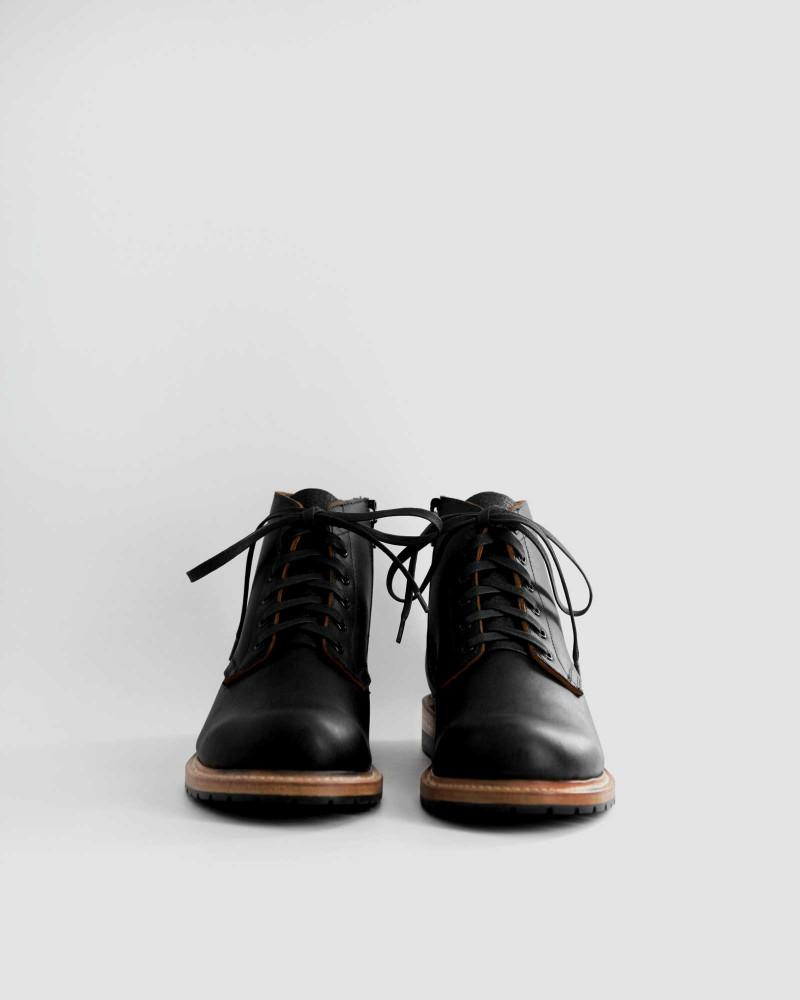 Slow Wear Lion|OB18592 Zip-up Boots・Black
