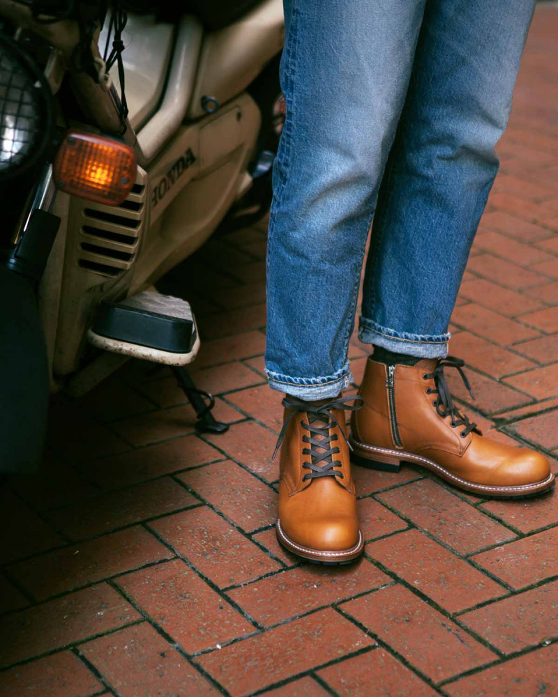 Slow Wear Lion|OB18592 Zip-up Boots・Brown