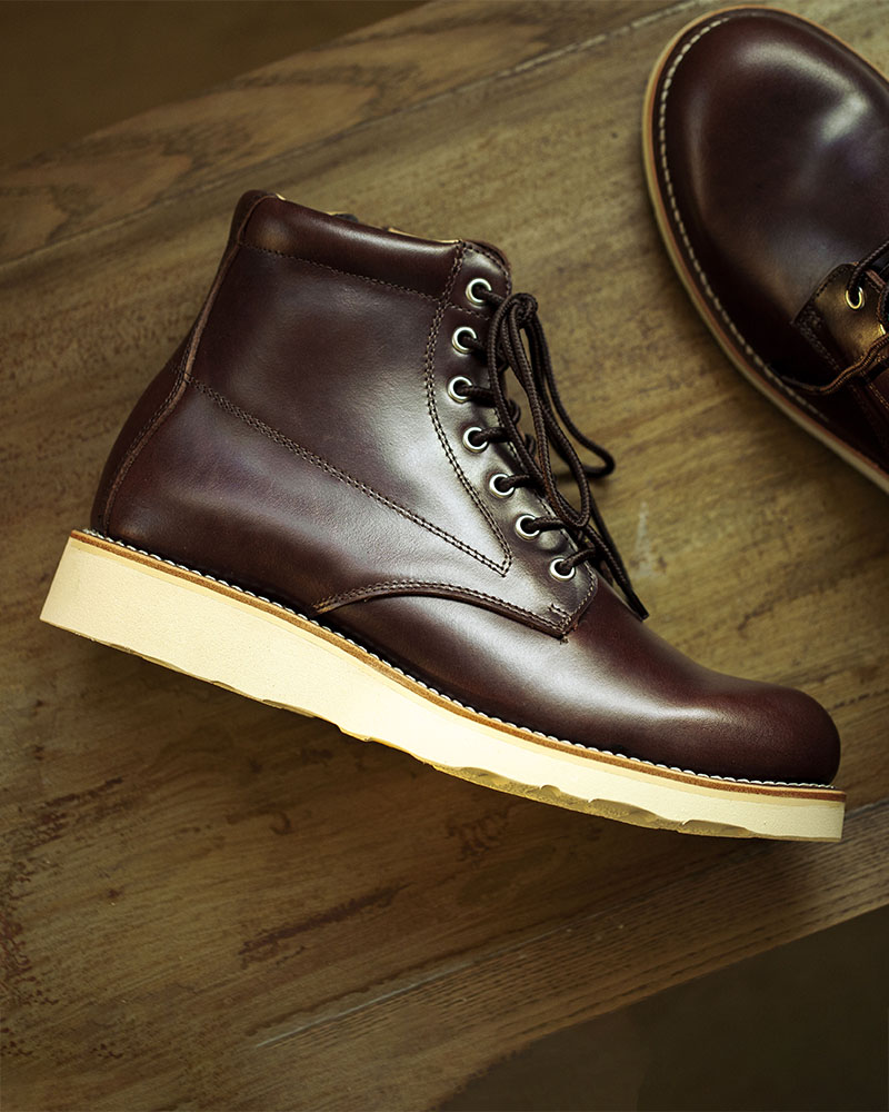 Slow Wear Lion|OB18593 Zip-up Boots w/ Vibram® Sole・Dark Brown
