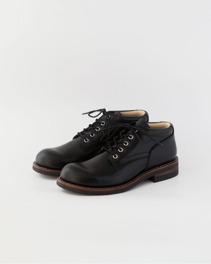 Slow Wear Lion|OB18958 Ankle Boots・Black
