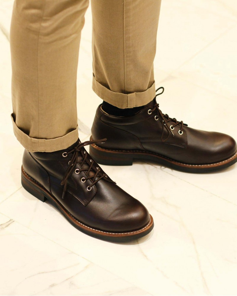 Slow Wear Lion|OB18958 Ankle Boots・Dark Brown