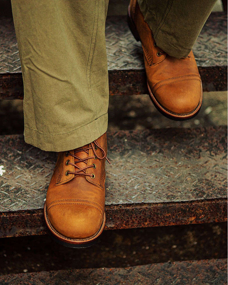 Slow Wear Lion|OB18166 Cap Toe Boots・Brown