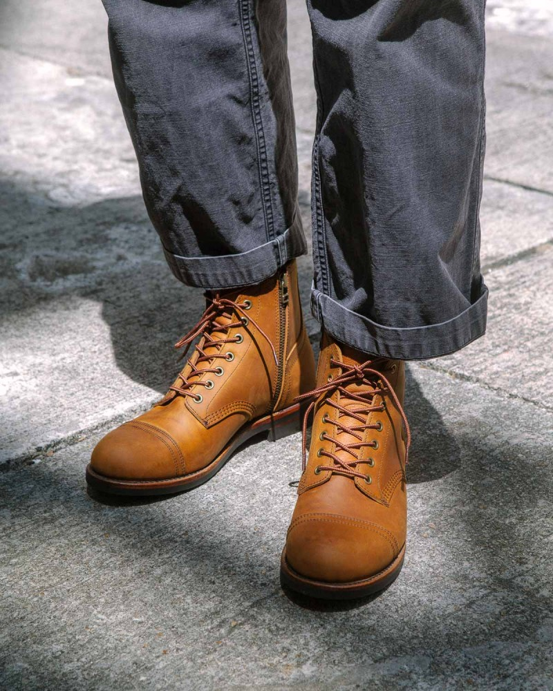 Slow Wear Lion|OB8166 Cap Toe Boots・Brown