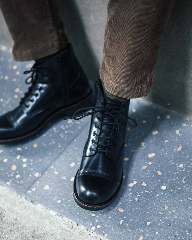 Slow Wear Lion|OB18166 Cap Toe Boots・Black
